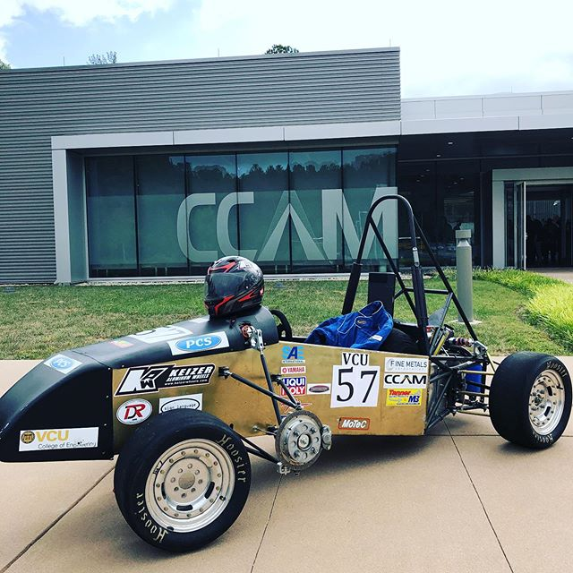 Showcasing our VCU02 car at our sponsors Manufacturing Day Show case thanks to CCAM. So look forward to sharing our build with our sponsor and students at this event.