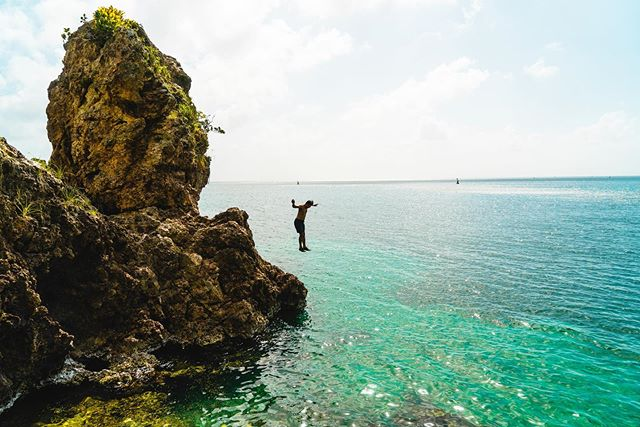 Jumping into the next adventures of life!  #weeee #morgansheadrock #isladeprovidencia