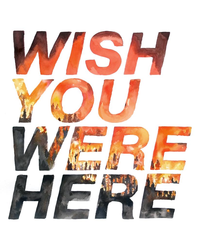 """Wish You Were Here"" - Mug Design"