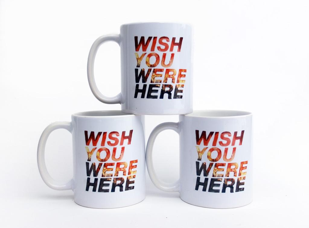 """Wish You Were Here"" - Commemorative Mug"