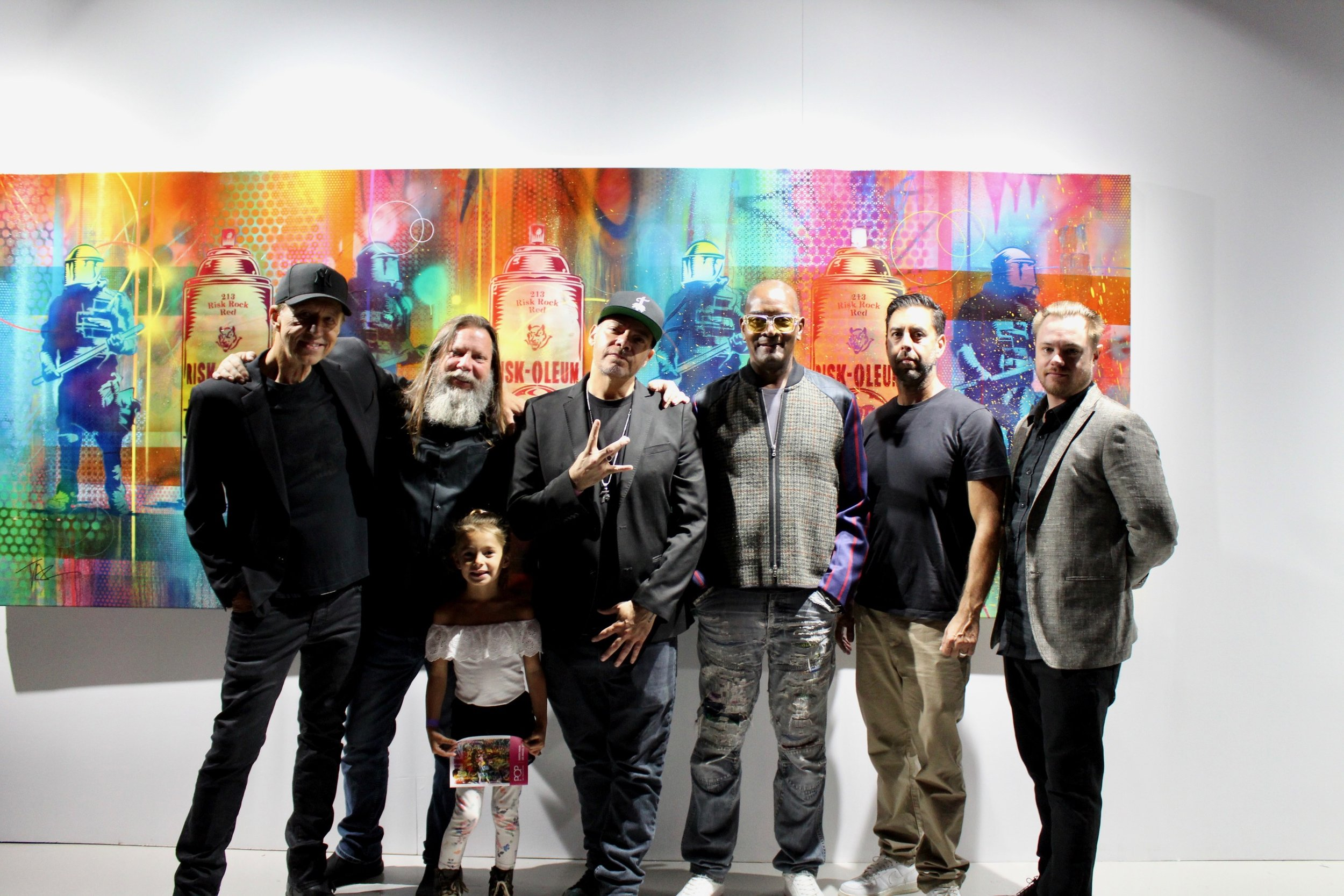 A talented group: Jim TAZ Evans, Risk Rock, Eddie Donaldson, Dennis Morris, Josh Levine, and others (we did inform Mike Shinoda that Risk was here)
