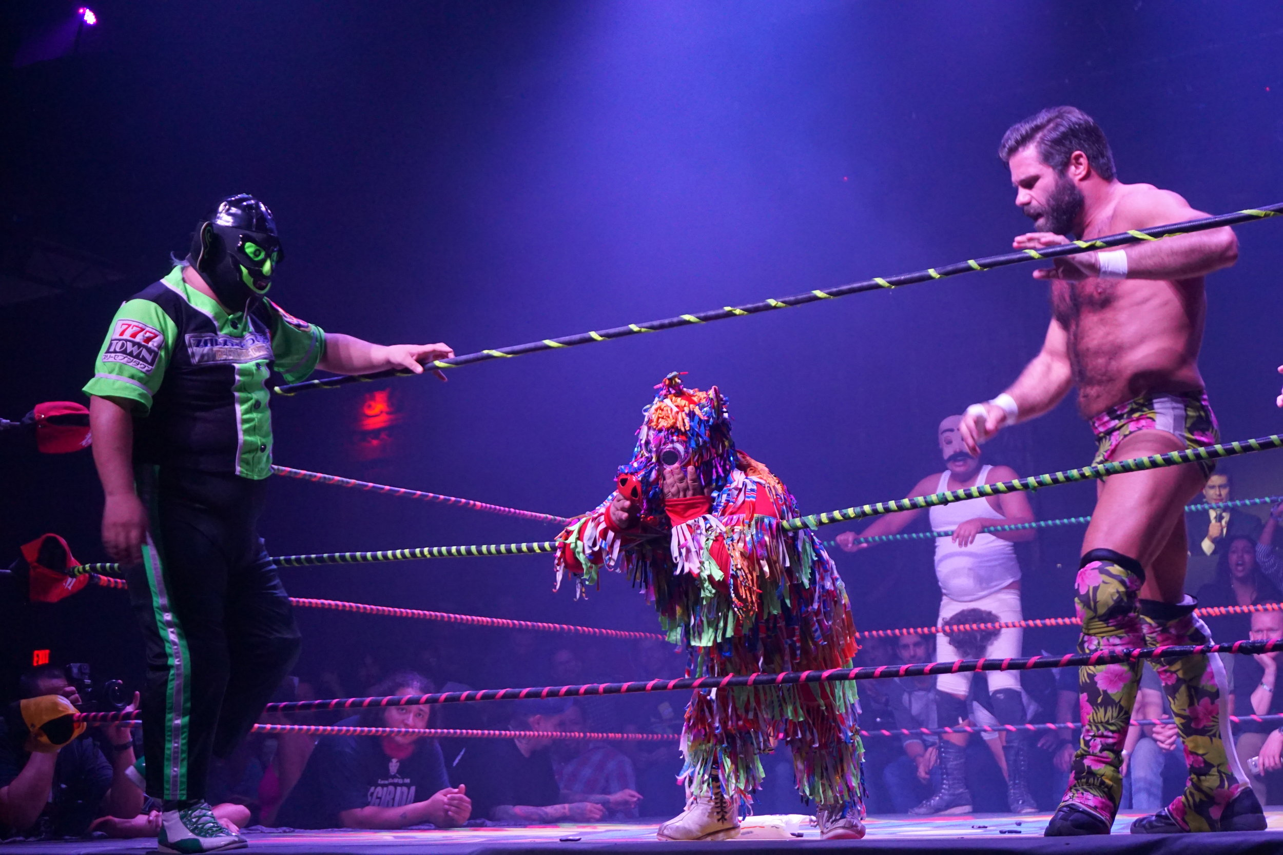 Kikutaro, Piñatita, Dirty Sanchez, and Joey Ryan by Andrea Antolini