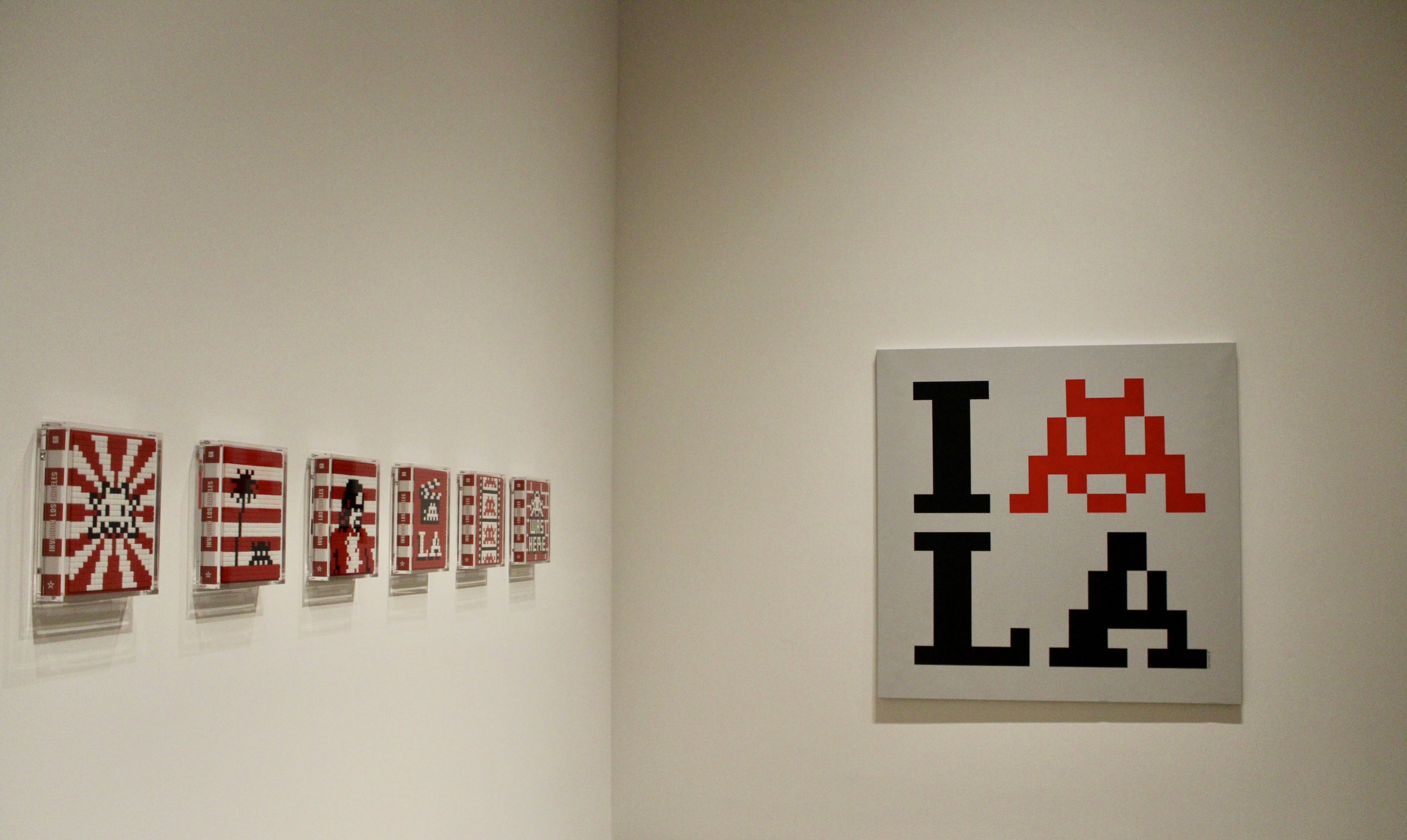 LA influenced art by Invader