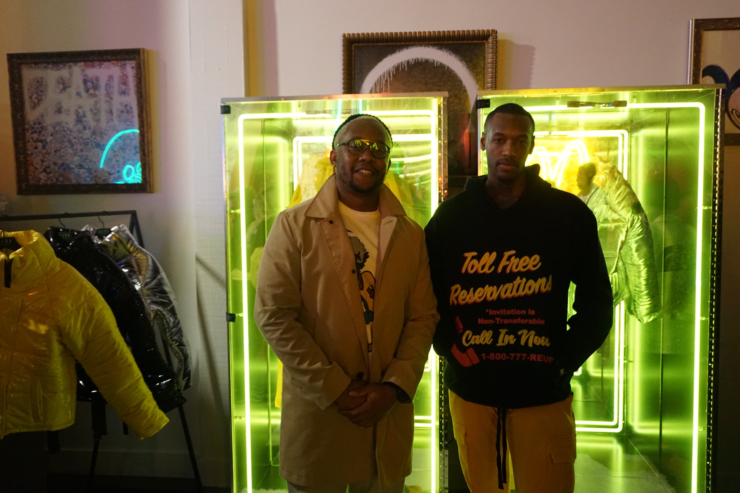 Thulani, founder of clothing line The Rad Black Kids, and Mateo Berry