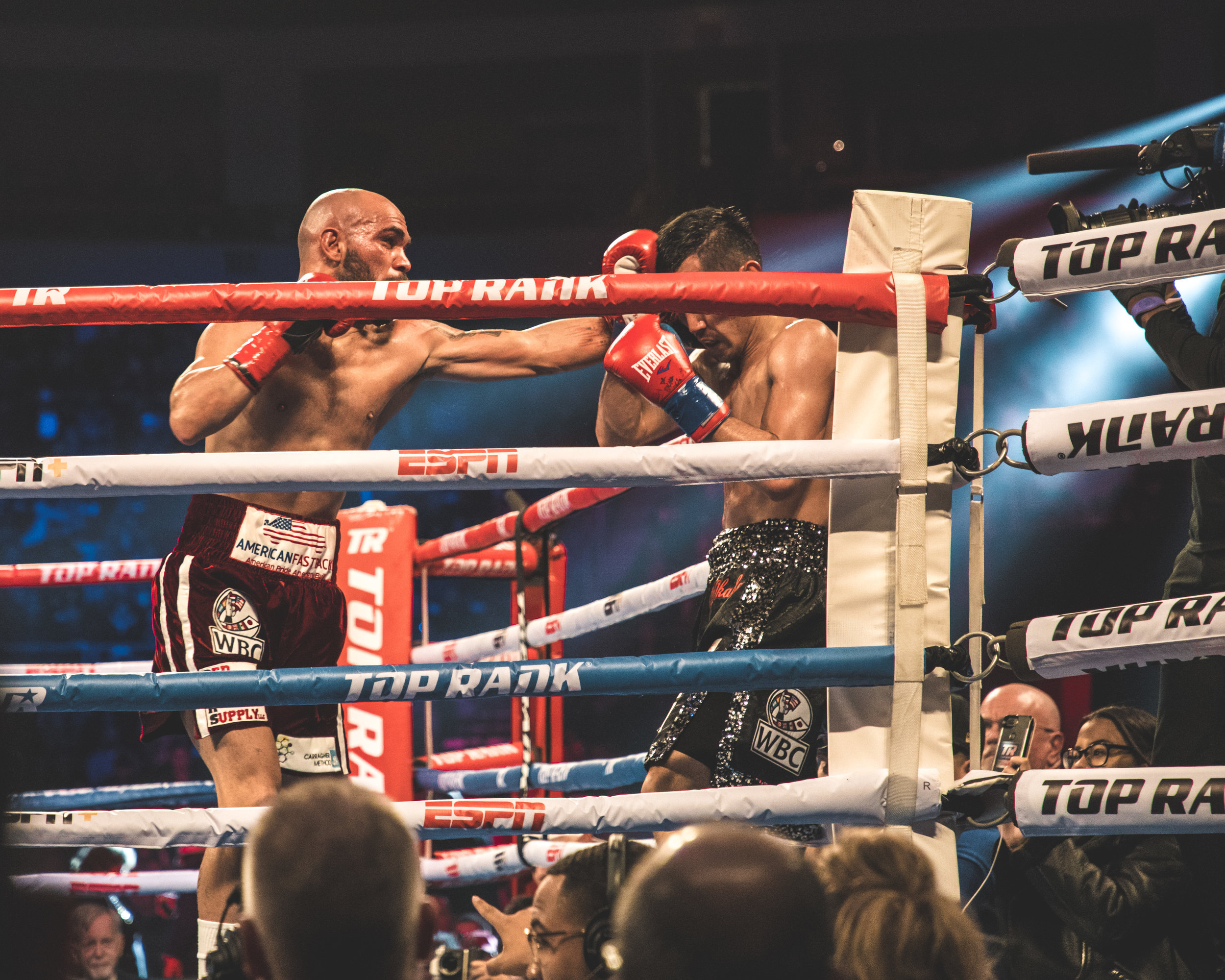 Ray Beltran punching Hiroki Okada by Benny Blanco