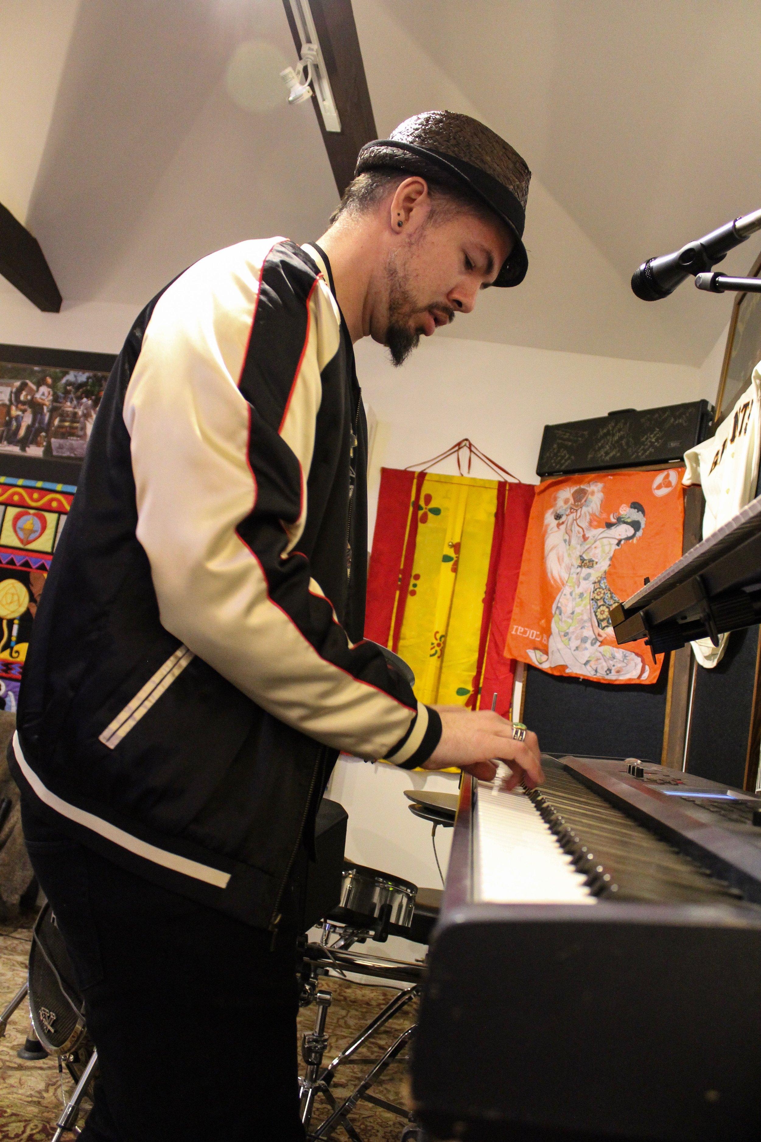 Salvador Santana playing keyboard by Roger Martinez