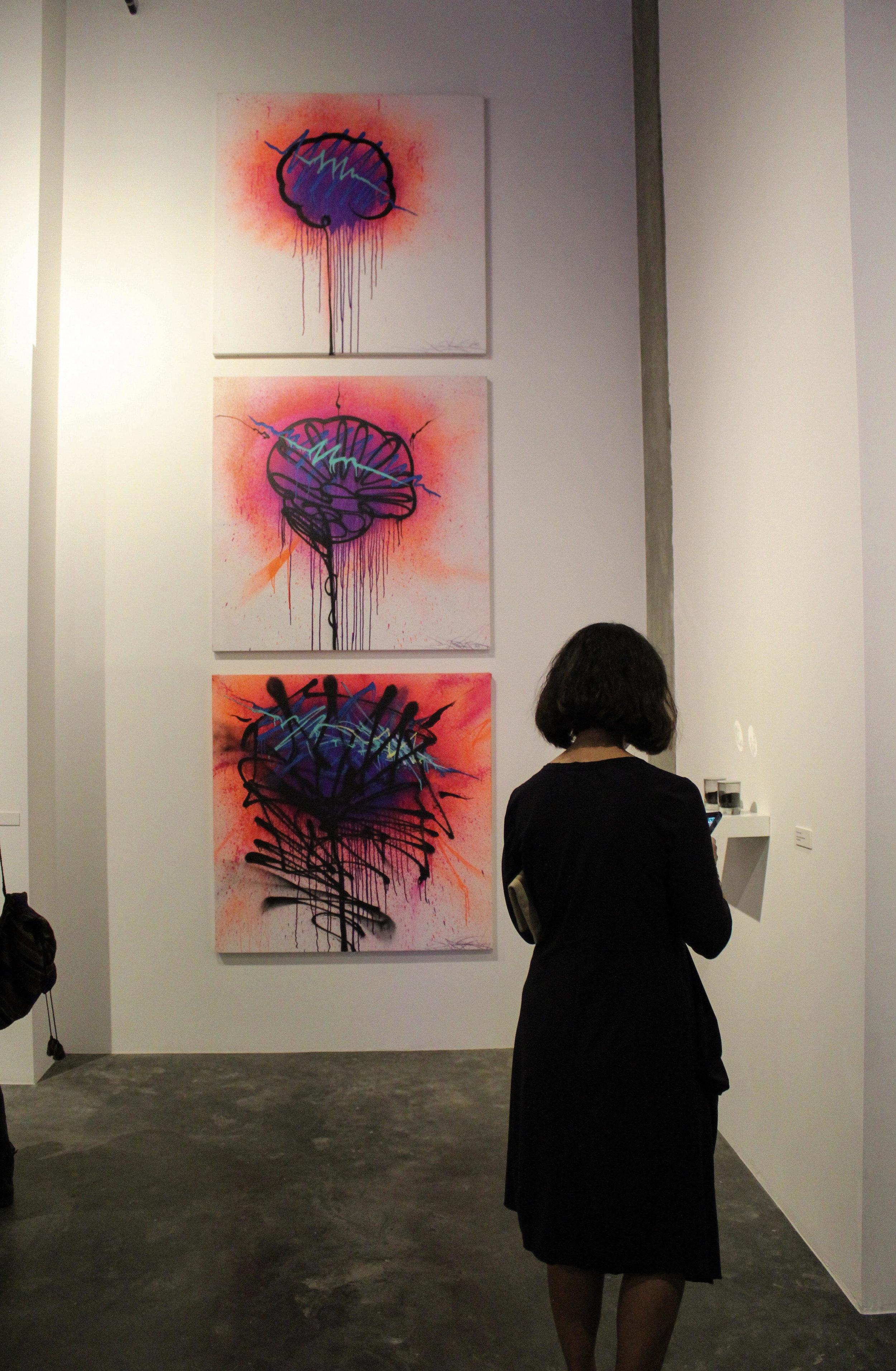 Saber's three piece art set by Roger Martinez