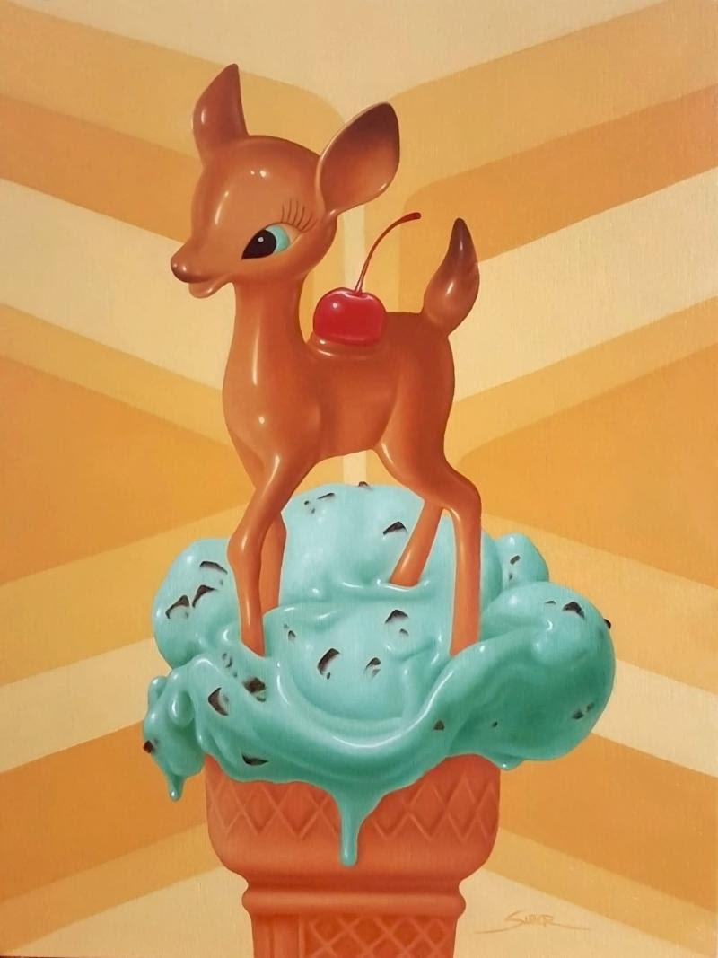 """""""Mint Dip"""" (oil on wood, 16"""" x 12"""") by Bennett Slater"""