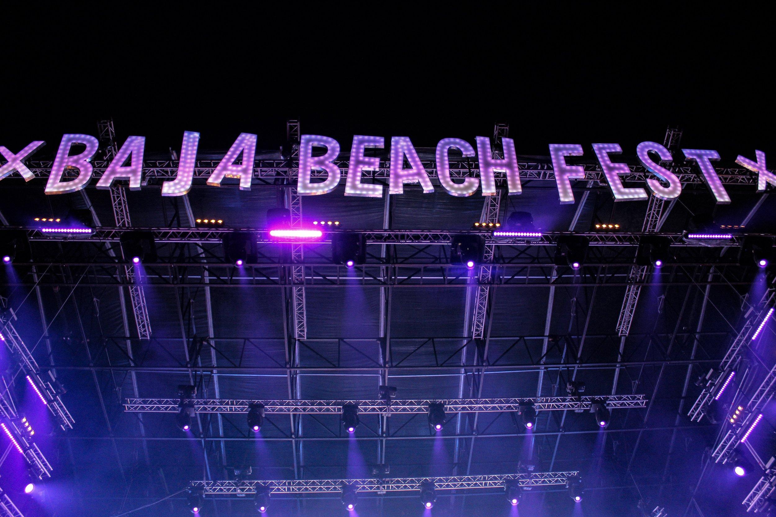 Baja Beach Fest stage by Roger Martinez