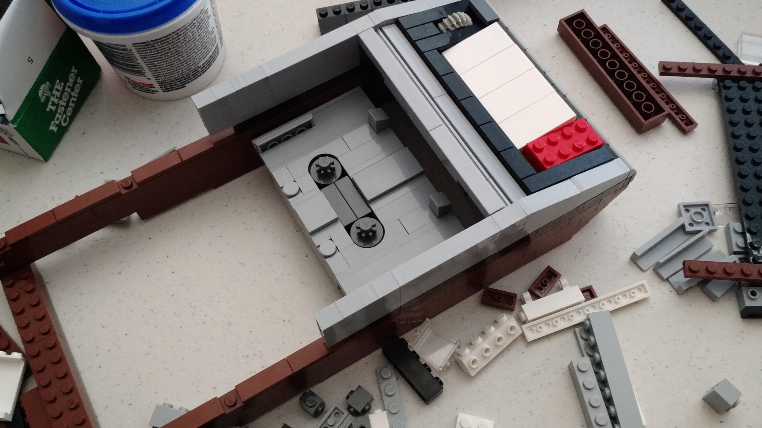 The cassette tape recorder takes shape
