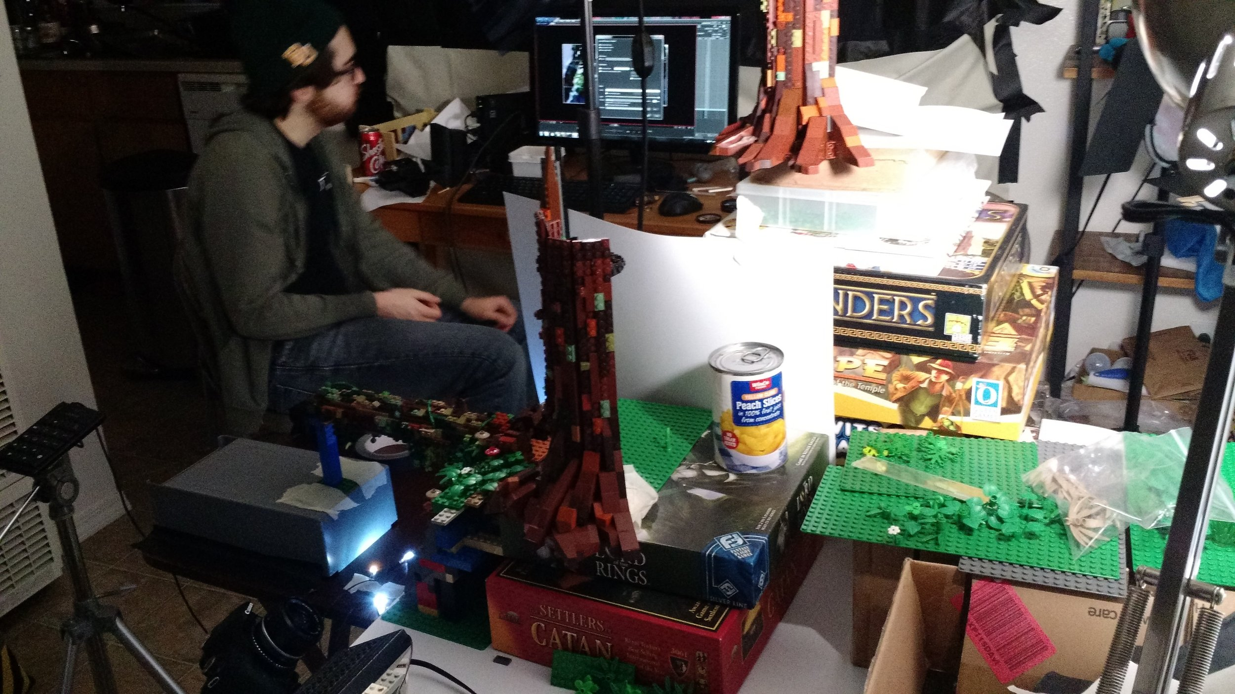 you never really think about the posterboard, boardgames and cans of peaches needed to hold a set together.
