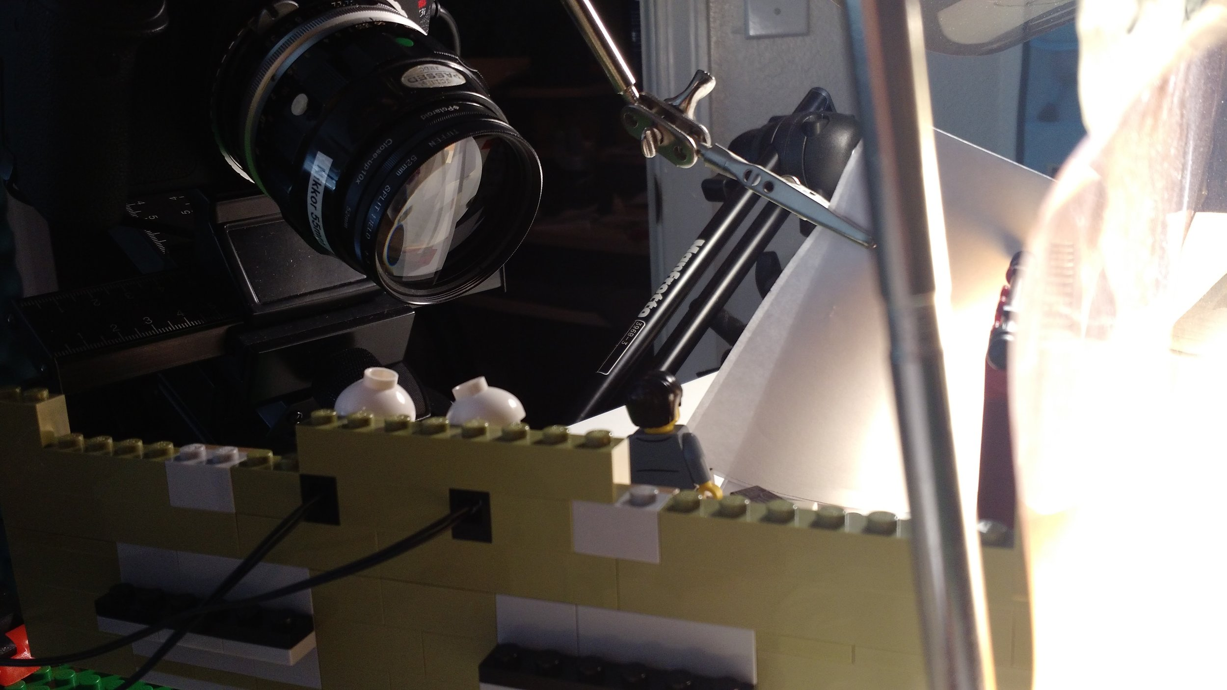 The split-field diopter, where only one half of the diopter has a lens