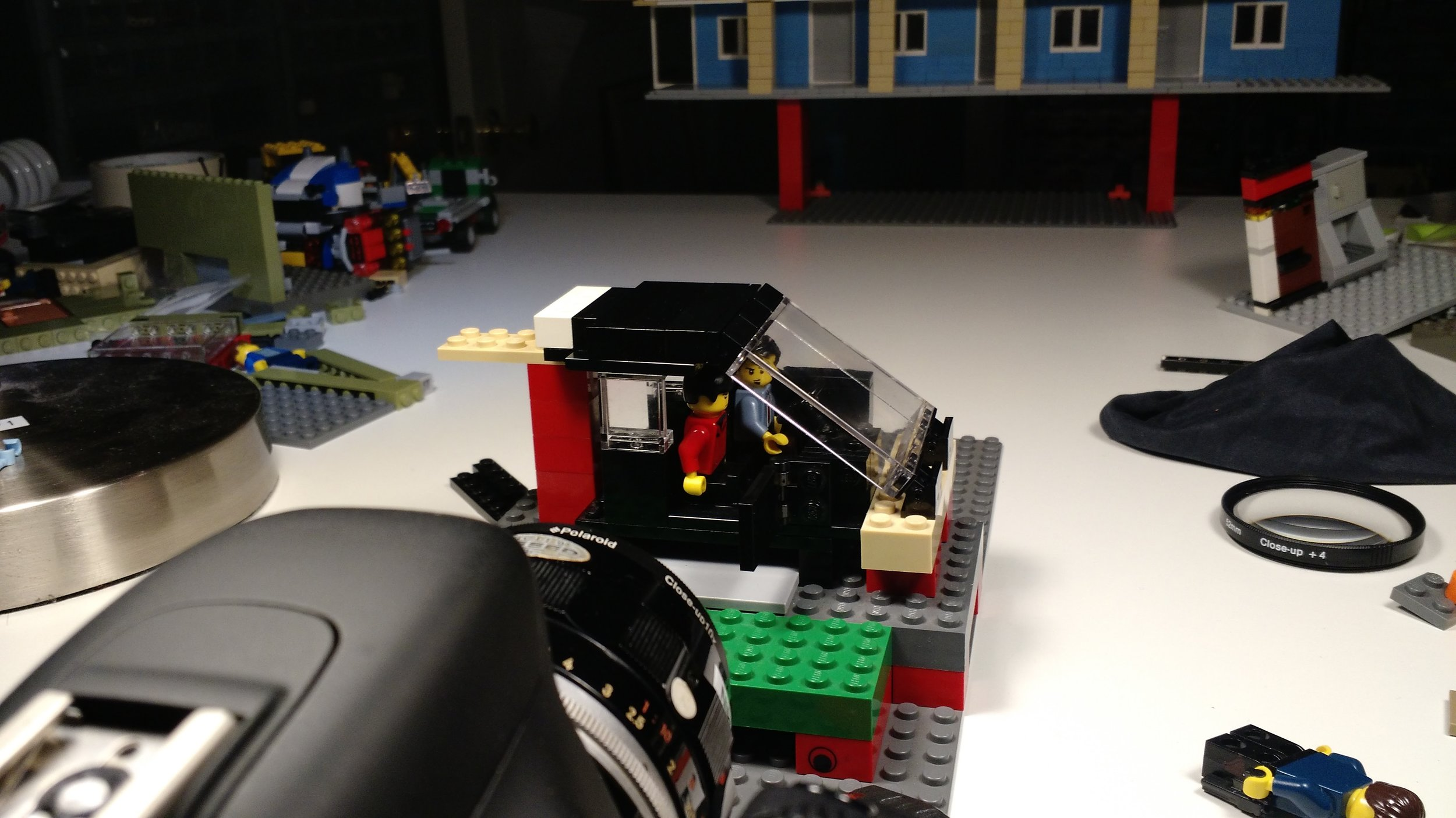 Mocking up the door-slamming shot with a specially-built car