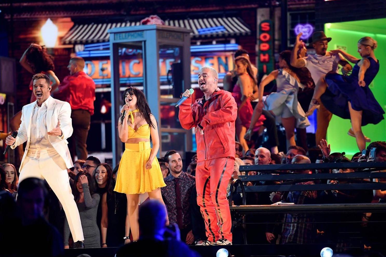 61st GRAMMYS - Camila Cabello / Ricky Martin / J Balvin