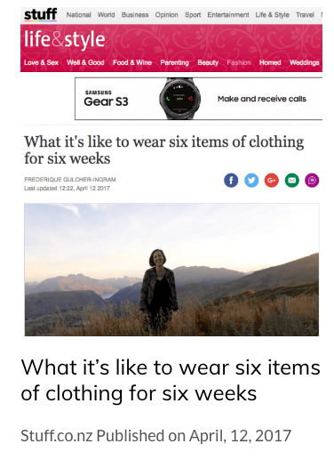 What it's like to wear six items of clothing for six weeks