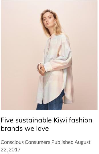 Five sustainable Kiwi fashion brands we love