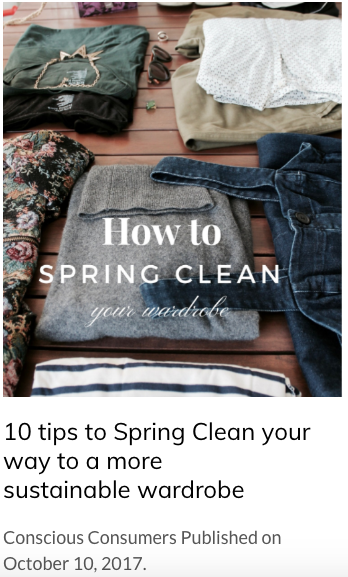 10 tips to Spring Clean your way to a more sustainable wardrobe