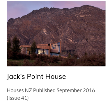 Jacks Point House Queenstown