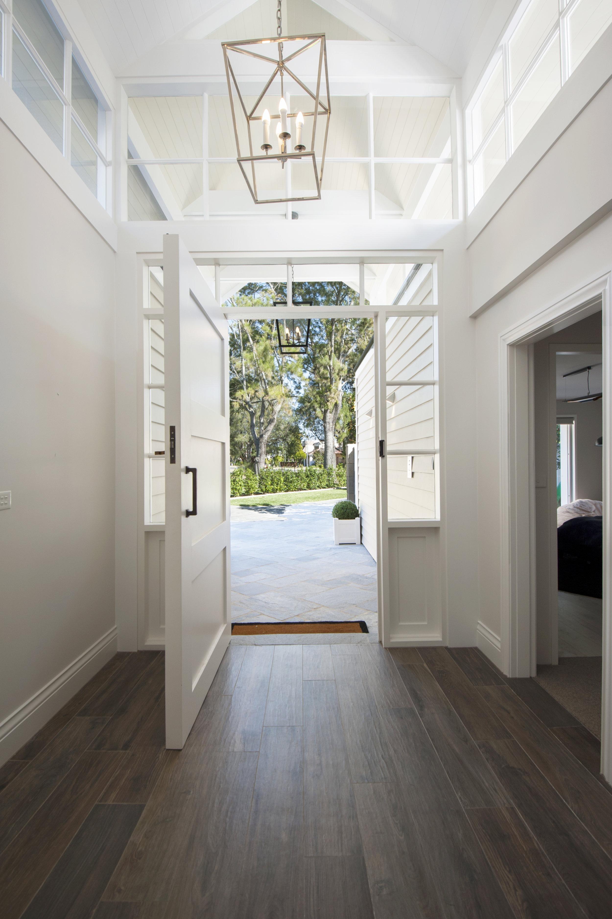Internal lobby of Hamptons home