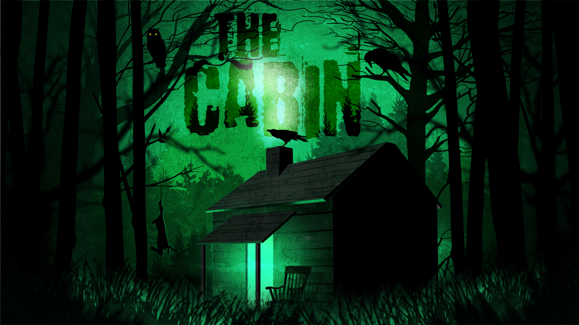 THE CABIN - If you go down to the woods today you are in for a big surprise...You're walking in the woods. There's no one around and your phone is dead. Out of the corner of your eye you spot it: The Cabin…If only you could get that radio working, you would be able to call for help, But the cabin may not be as safe as it first appears…
