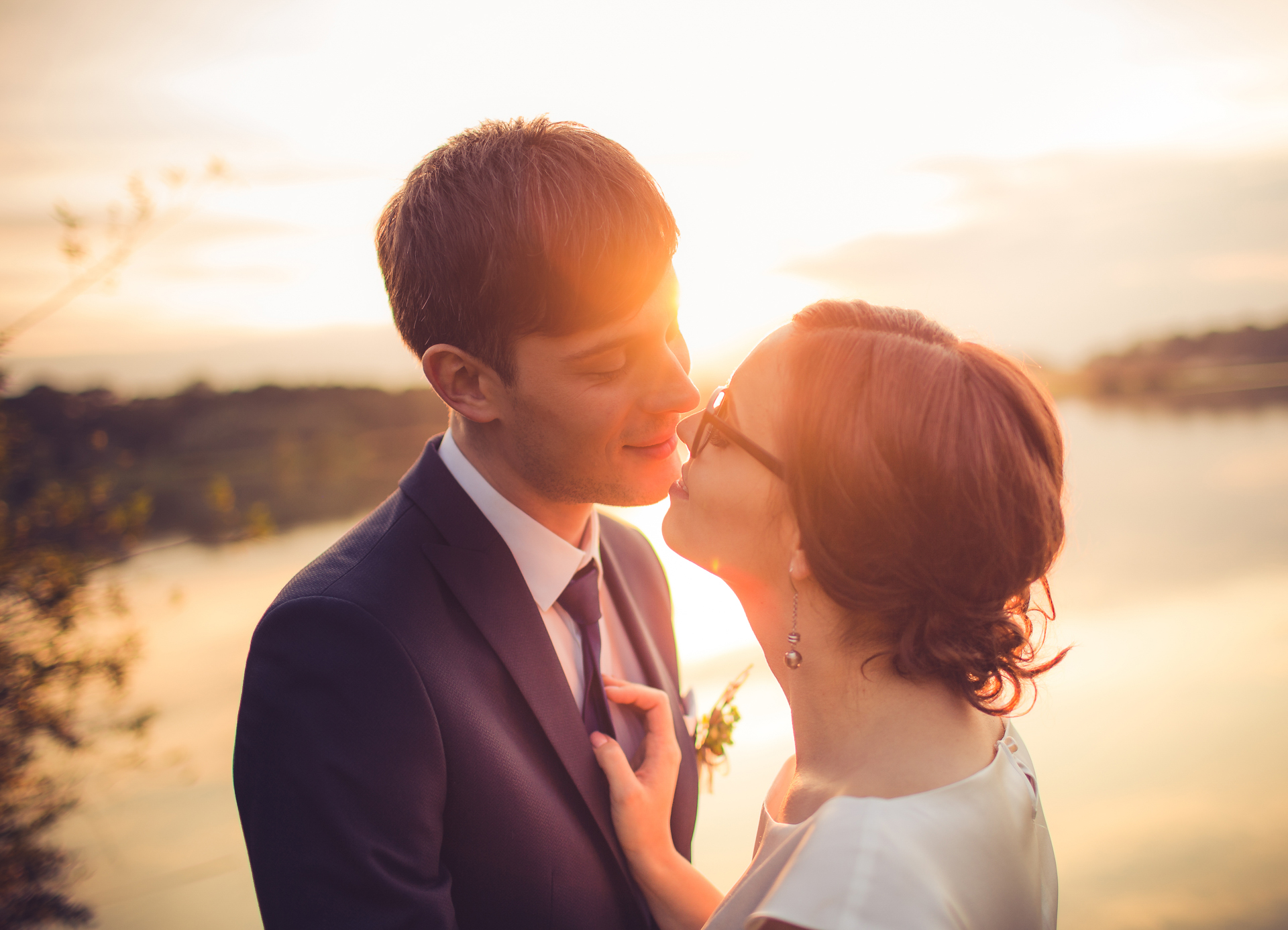 Poroka ob sončnem zahodu