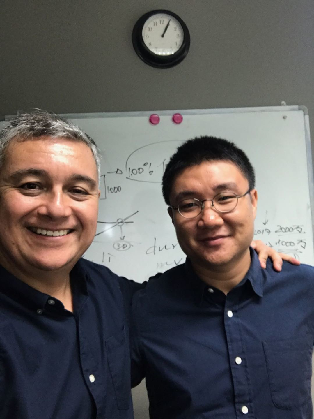 Teacher Timothy Wang with His Student Alberto Duran