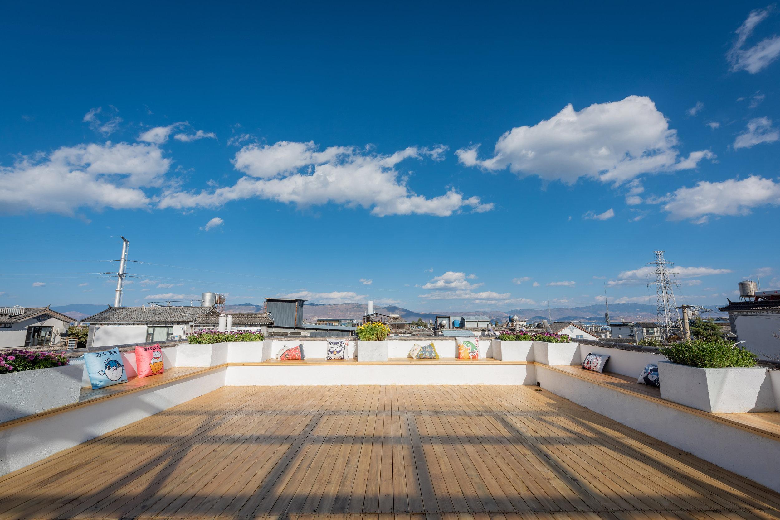 Roof top @ Akitaya Guesthouse Dali 大理秋田家精品客栈
