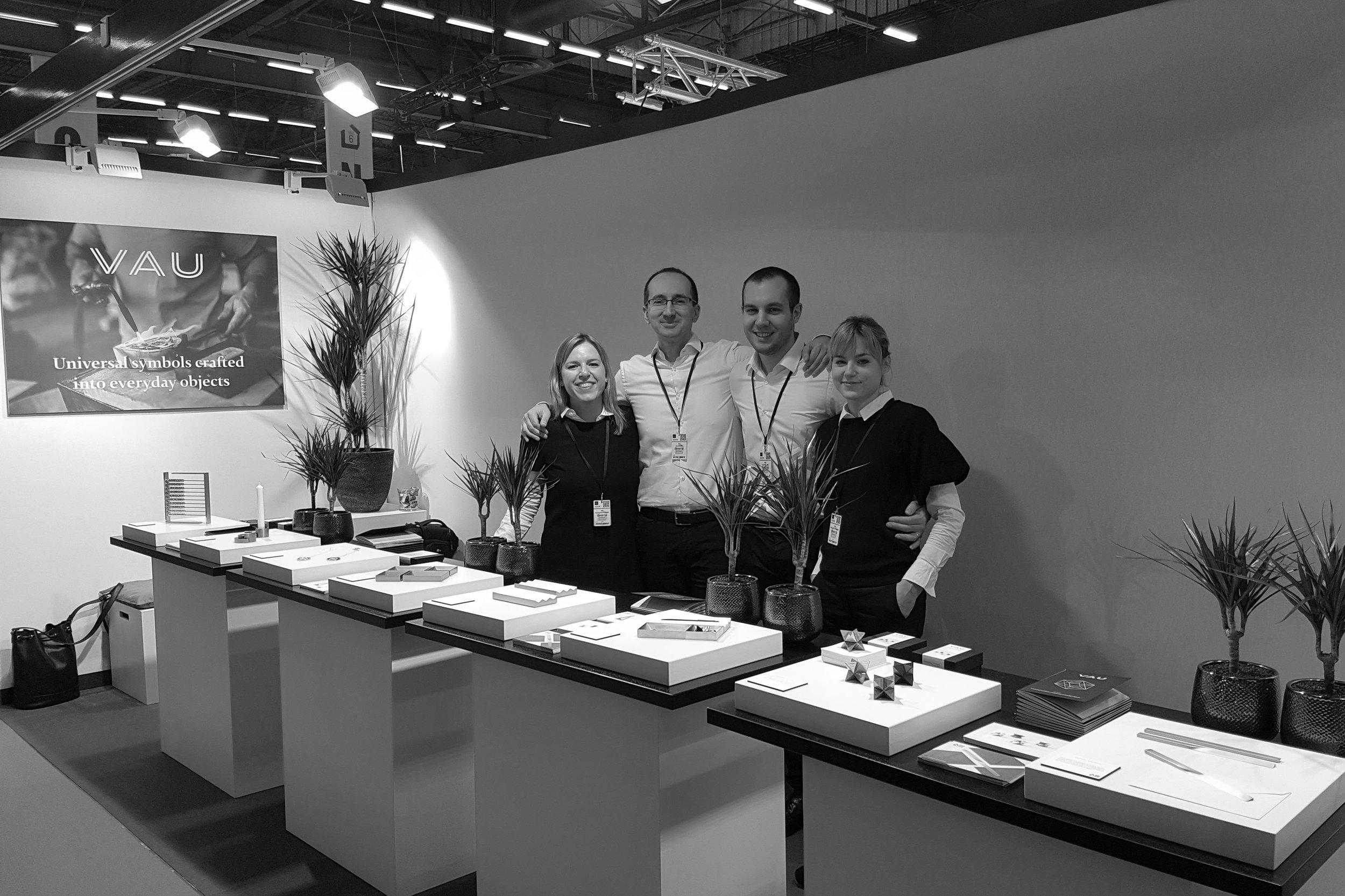 Katarina ,  Ivica ,  Ivan  and  Marija  at the MAISON&OBJET trade show