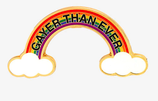 Gayer than ever pin