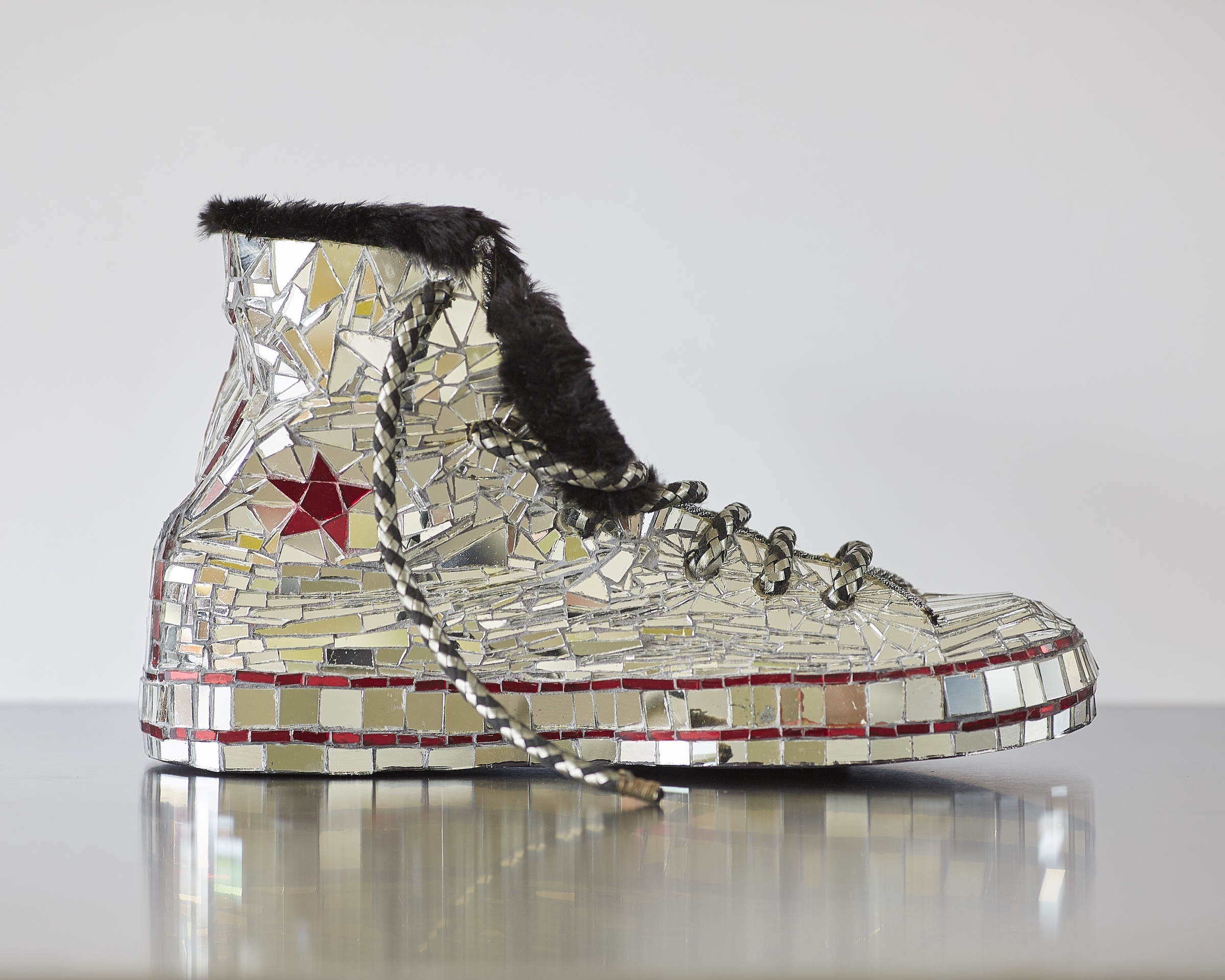 Candace Bahouth,  Mosaic Mirrored ankle high Converse Sneaker,  Mosaic