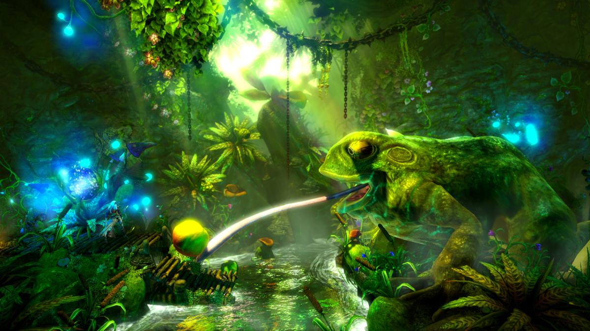 (c)  Trine 2 , Frozenbyte, 2011. C'est dans leur garage qu'une dizaine de créateurs finnois ont élaboré Trine, un jeu de plateformes et de réflexion empreint de magie à l'esthétique colorée. Ils ont ensuite proposé leur prototype à des éditeurs de jeux.