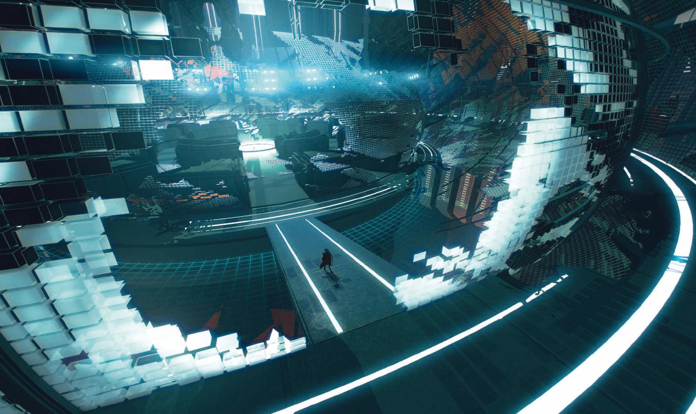 (c)  Furi , TheGameBakers, 2016. L'oeuvre est devenue l'une des principales références en matière de sound design, chacun des personnages du jeu bénéficiant d'une pièce sonore sur mesure pour refléter sa personnalité et son style de combat.