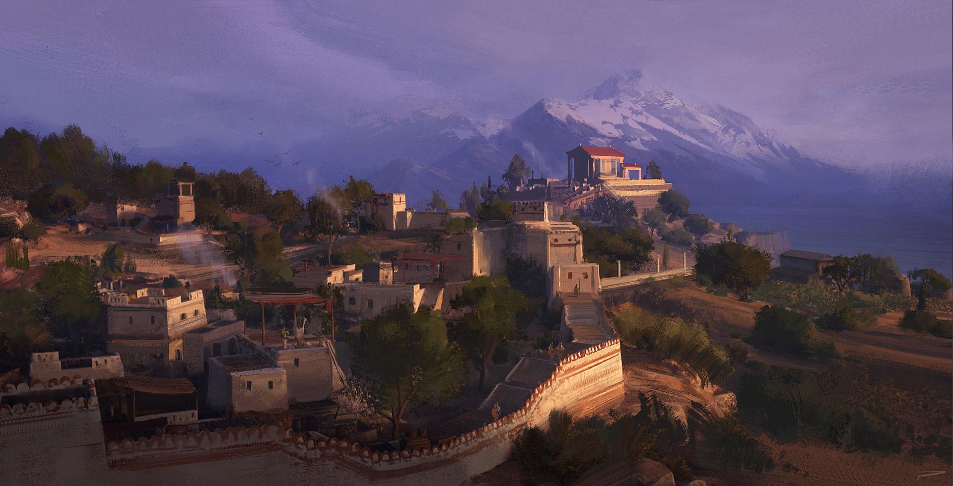 © Hugo Puzzuoli, Crete City, Assassin's Creed Odyssey, Ubisoft.