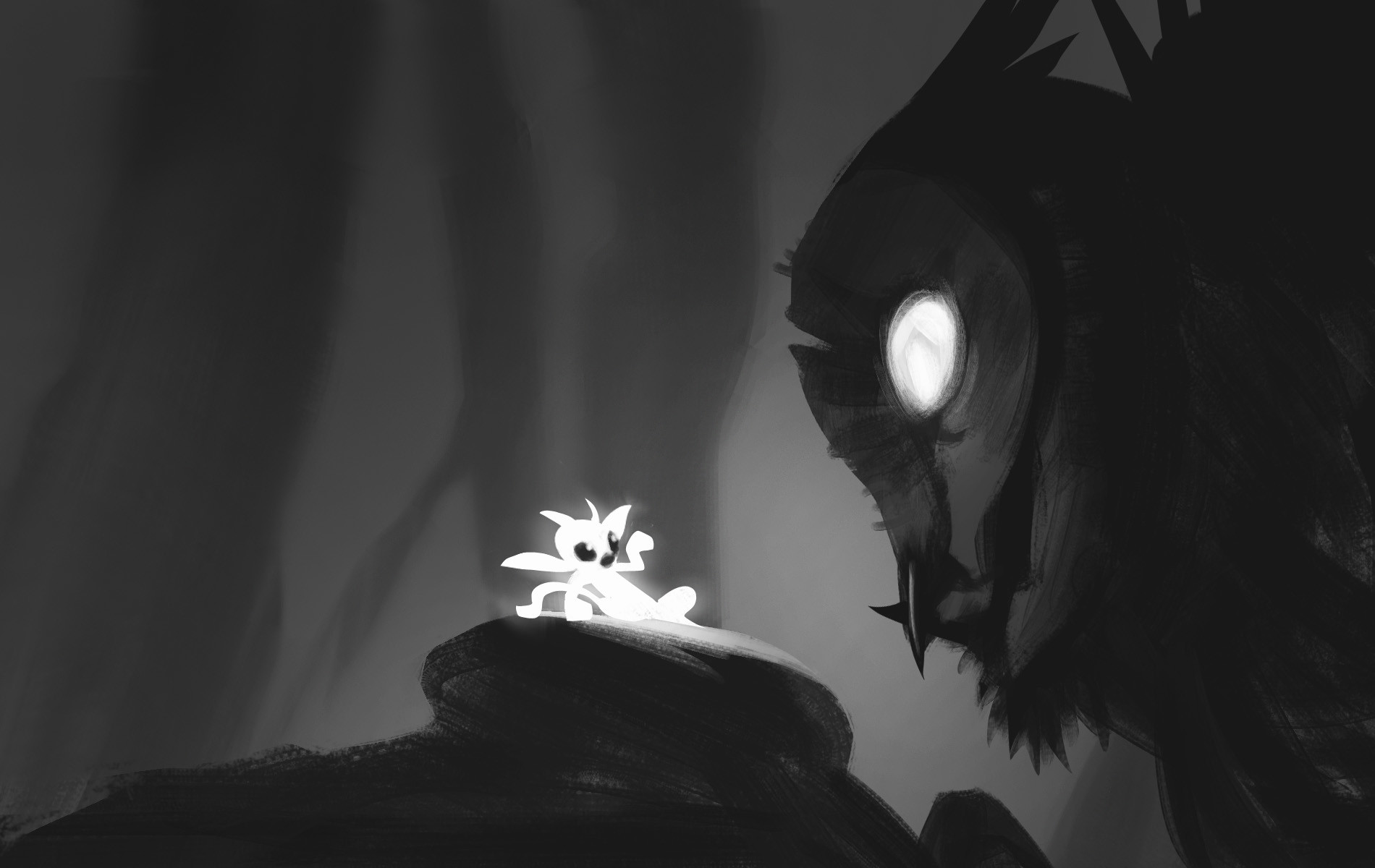 © Johannes Figlhuber, Concept art,  Ori and the Blind Forest , Moon Studios, Microsoft Studios.