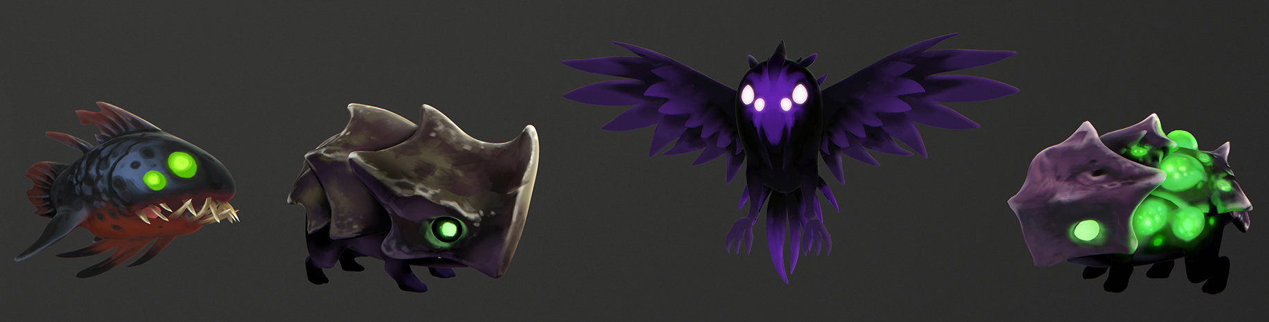 © Johannes Figlhuber, Textures character design,  Ori and the Blind Forest , Moon Studios, Microsoft Studios.