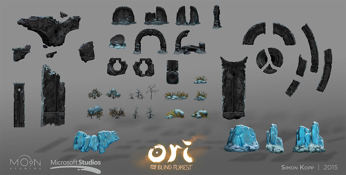 © Simon Kopp, Concept art,  Ori and the Blind Forest , Moon Studios, Microsoft Studios.