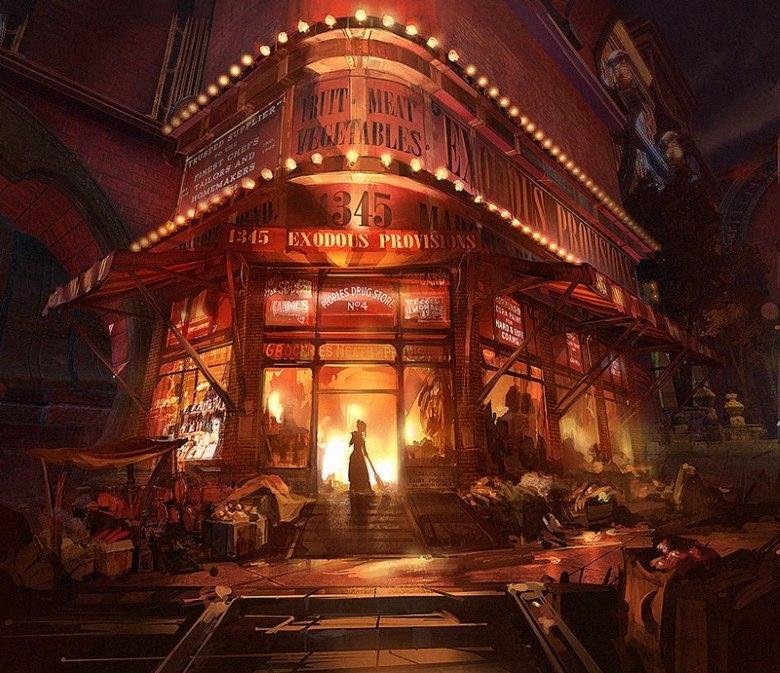© Ben Lo, Concept art,  Bioshock Infinite , Irrational Games, 2K Games.