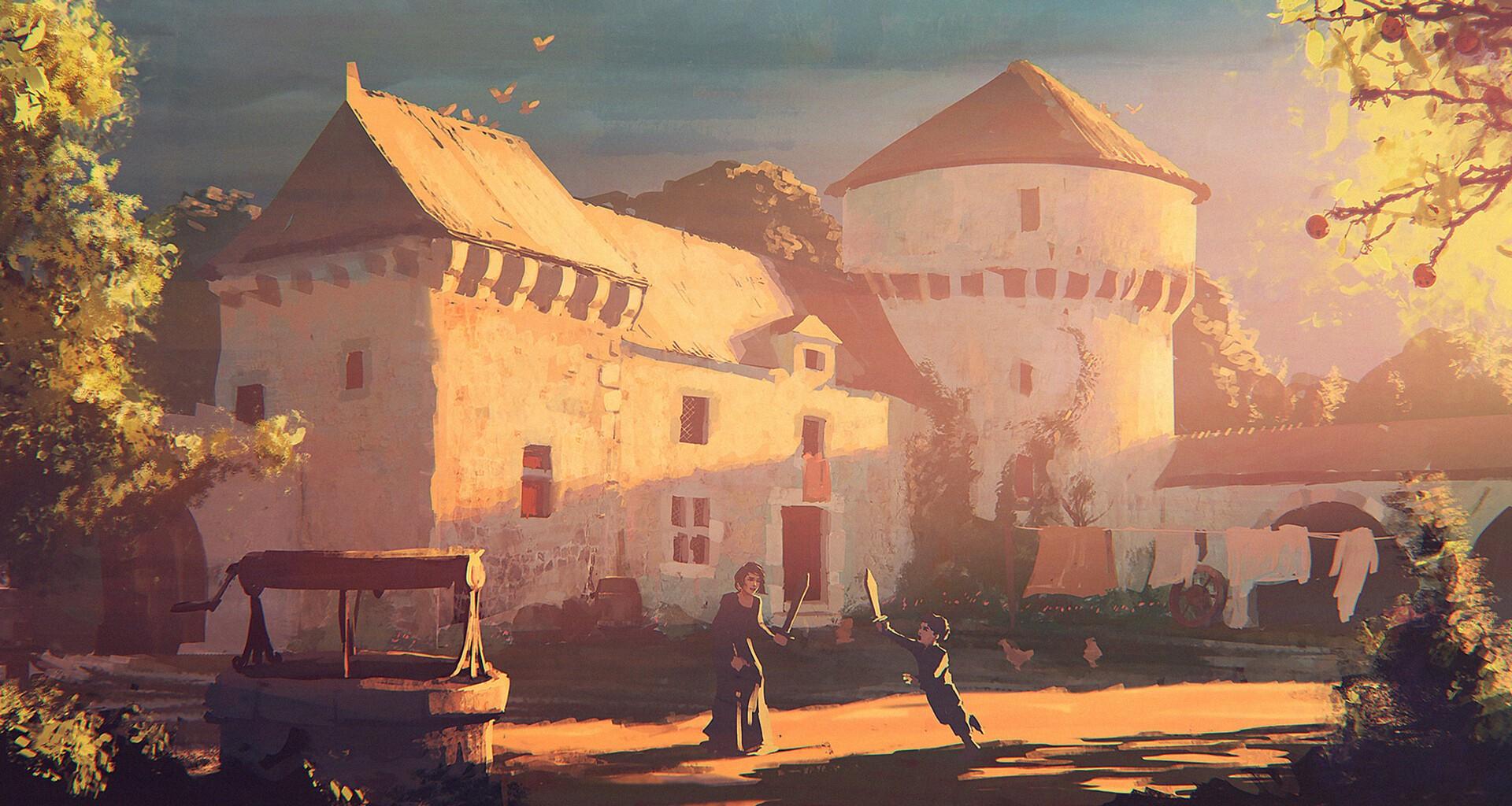 © Olivier Ponsonnet, Concept art, A Plague Tale: Innocence, Asobo Studio, Focus Home Interactive.
