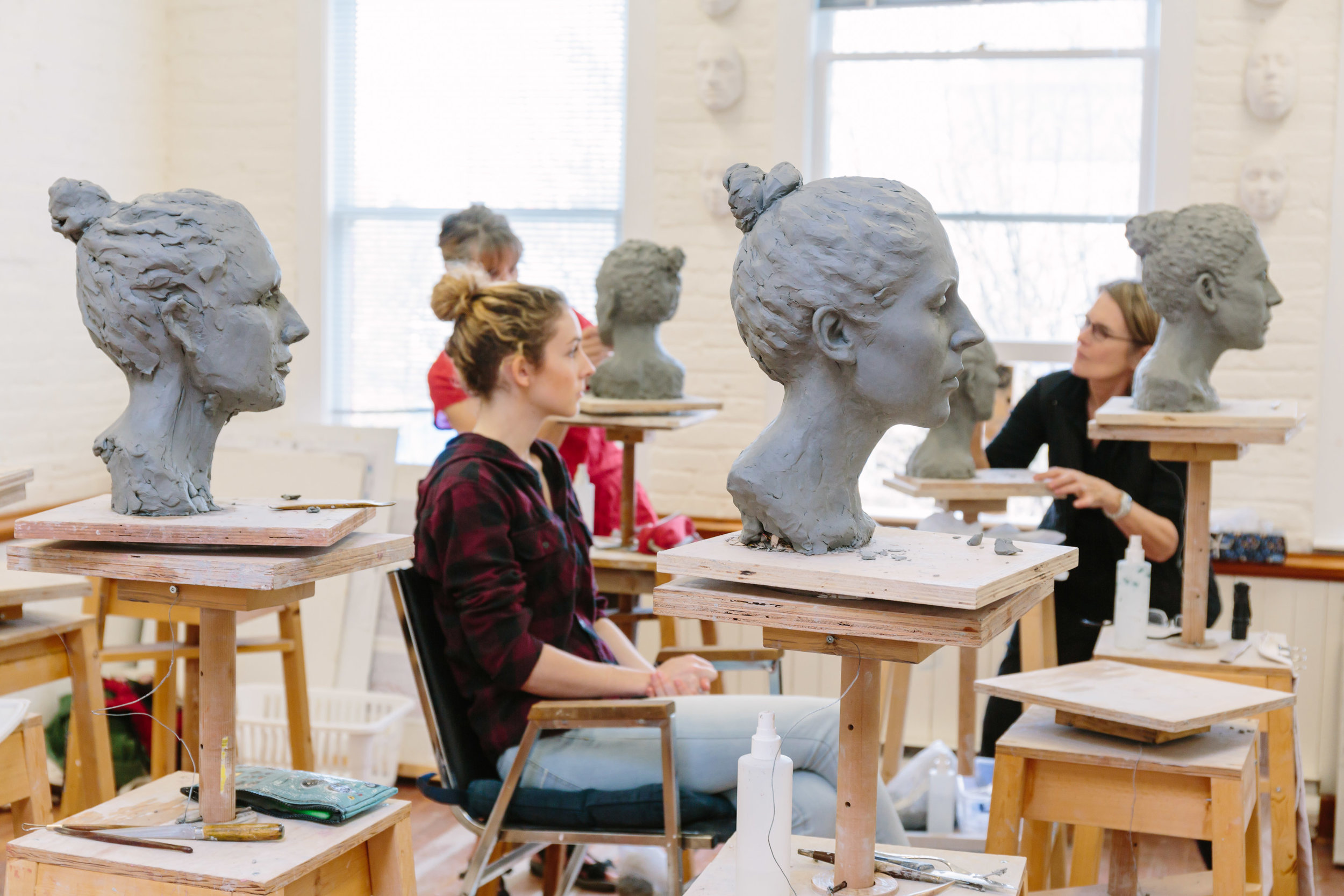 Portrait Sculpture from the Live Model