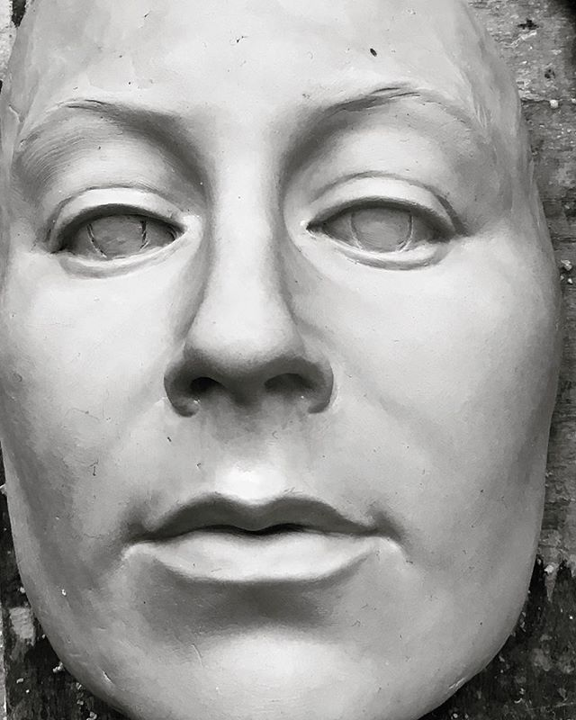 Mask in clay  #sculpture #human #face