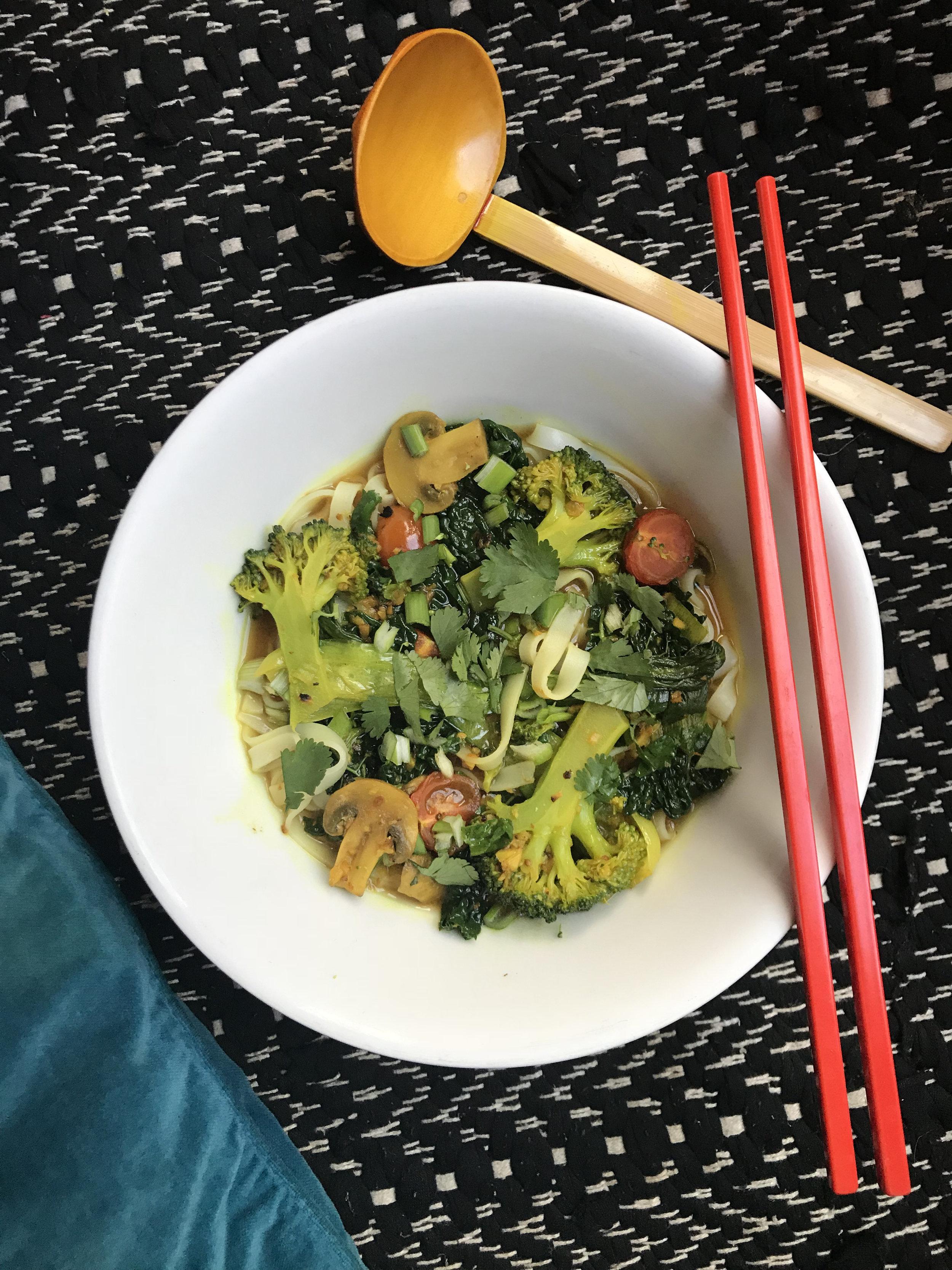 Miso Turmeric noodle soup