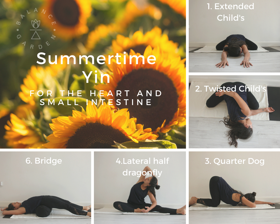 Summertime Yin Yoga - Skip the sweaty flow class and opt for soothing, cooling Yin Yoga instead. Here's a do-at-home-sequence you can do in your pants from the comfort of your house.