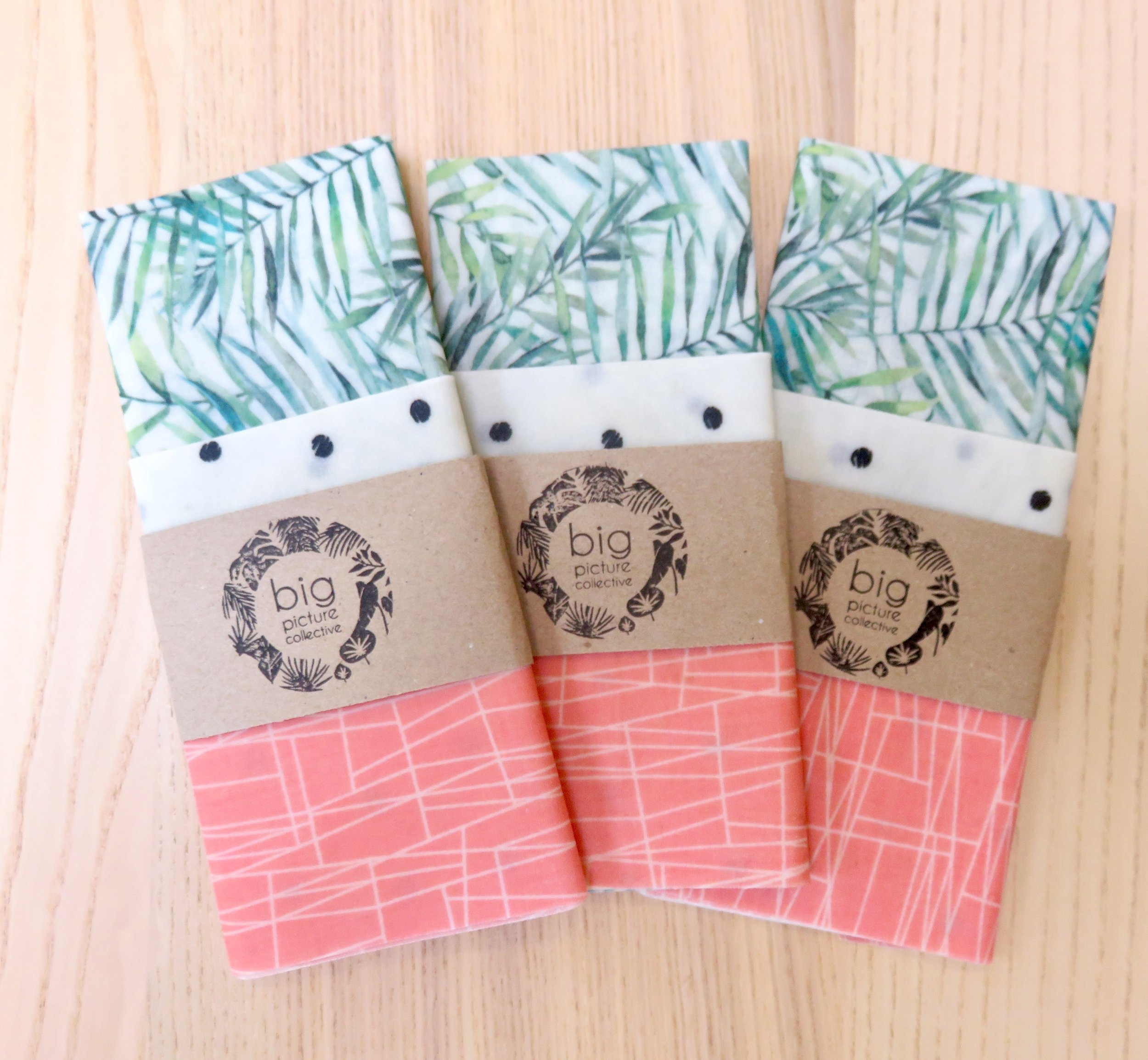 Beeswax Wraps pack of three    https://www.bigpicturecollective.com/sho/beewax-wraps-3-pack