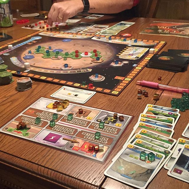 We're tearing up the surface of Mars tonight! And FORMING IT! Can't wait for this new episode to drop! #gameotheweek #boardgames #cardgames #terraformingmars #tabletop #podcast #mars