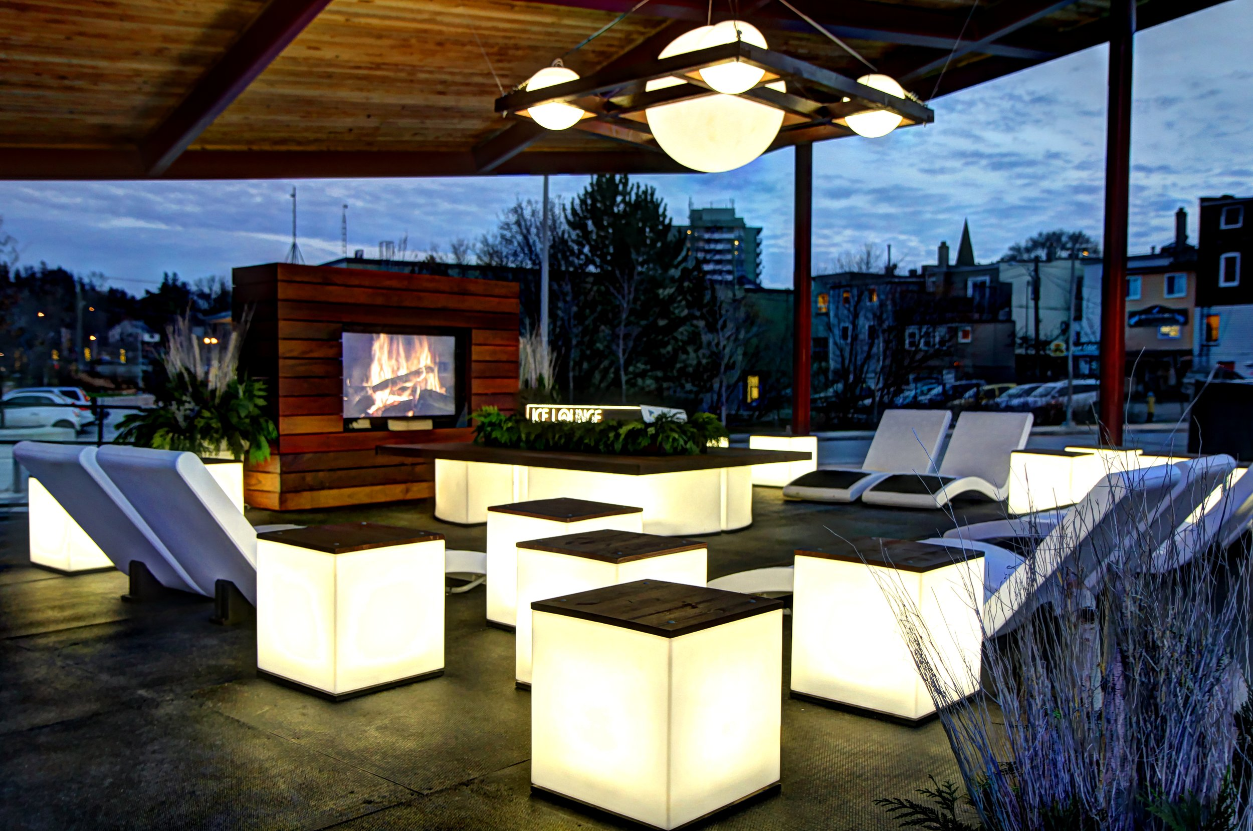 Ice Lounge at Newmarket Riverwalk Commons