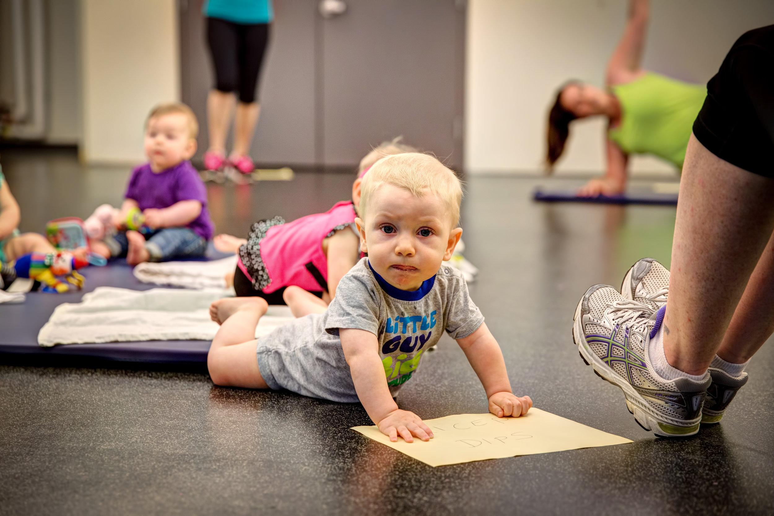 "New moms unite! Many classes and programs throughout Town provide a space where mom's can get some ""mommy time"" and tots can get some ""tummy time!"""