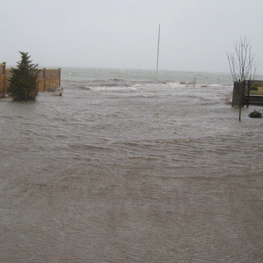 This picture   was taken from the front porch of our family cottage on Winsor Street.