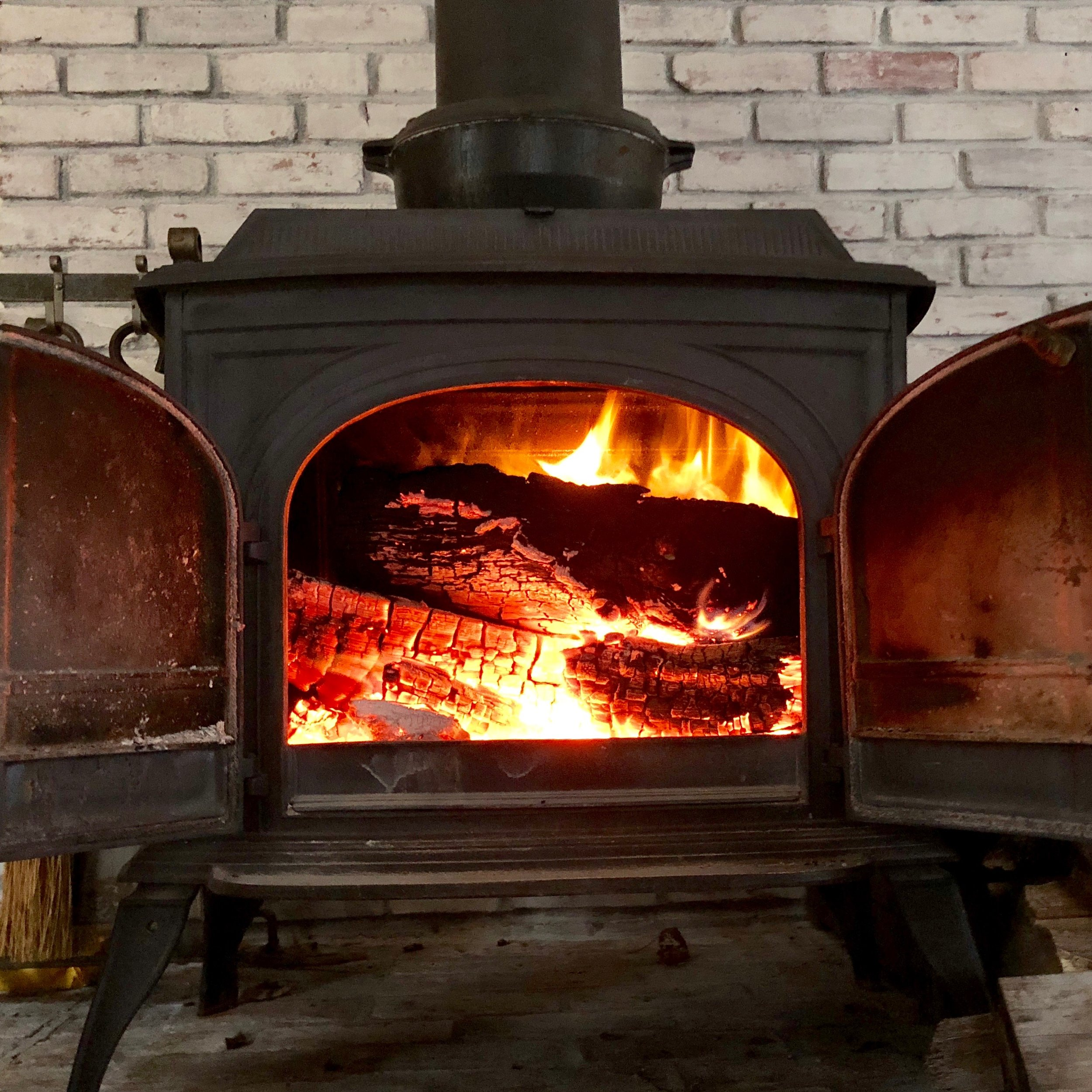 The wood stove kept me warm, from Friday through Monday.