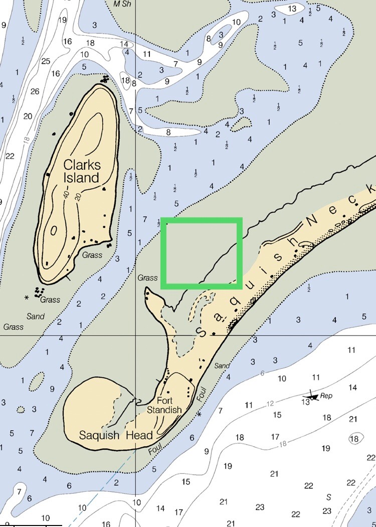 This  green box outlines the general area of where the Aunt Dotty's live, preparing to be harvested …