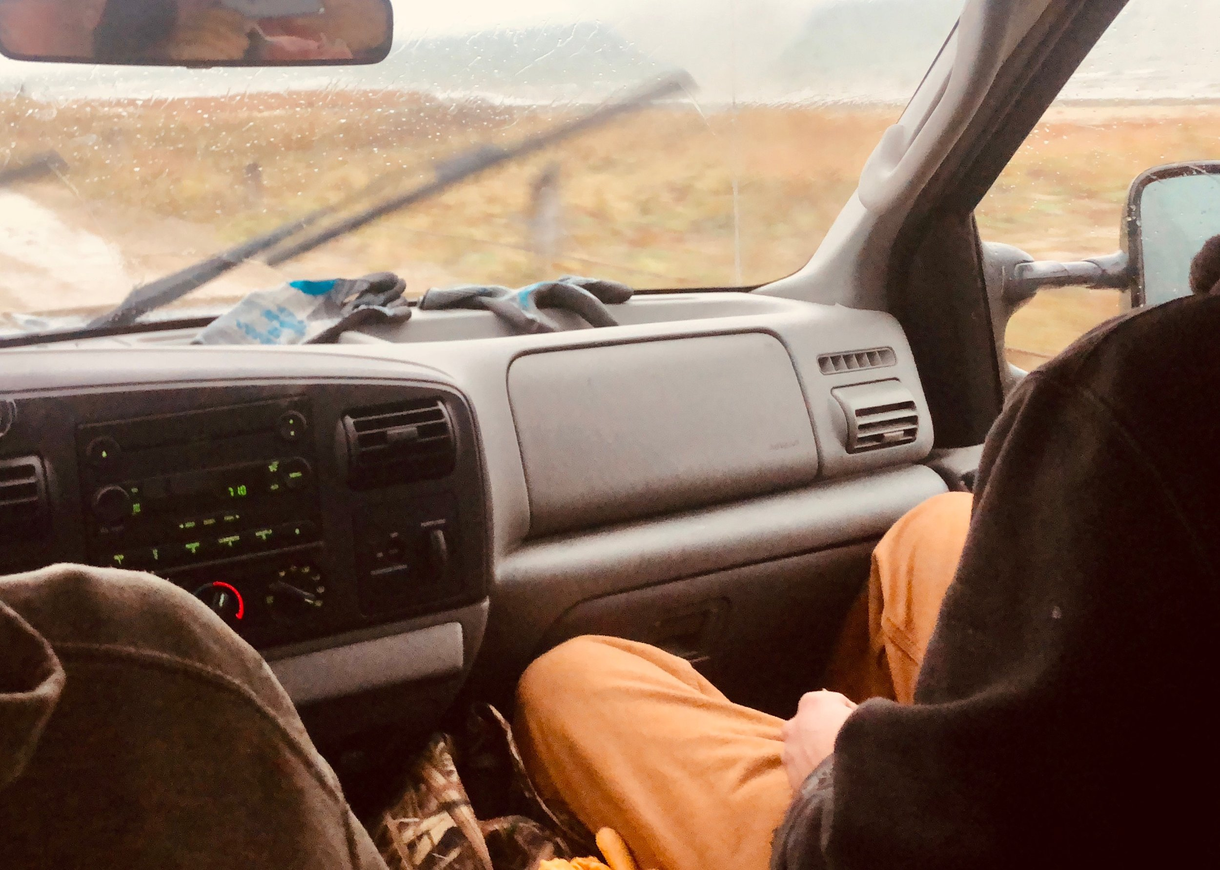 This weeks were a daily bumpy ride out to the Saquish lease, with Joe Rankin behind the wheel negotiating every pothole. We experienced consistently unsettled weather every day.